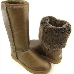 UGG Australia Classic Tall Metallic Bronze Boots